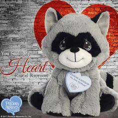 "e3186cb4e5ab ""You Stole My Heart - Rascal Raccoon"" Stuffed Animal. Raccoon Stuffed  AnimalStuffed AnimalsPrecious Moments ..."