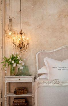smaller chandeliers for bedside lighting, so elegant! #mrpicehome