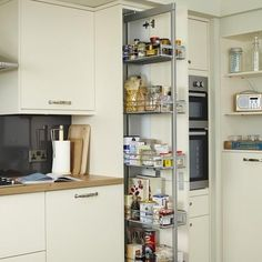 Standard Full-Height Pull-Out Larder | Kitchen Storage Solutions | Howdens Joinery