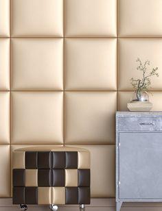 KERMA puffok! Műbőr falpanelekből gyártott dekoratív ülőkék a Kerma Designtól. Három különböző panel kiosztásban (sima,csíkos,kockás), akár 150 különböző színben!