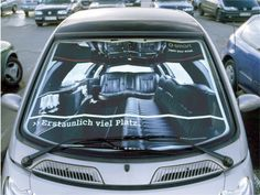 Read more: https://www.luerzersarchive.com/en/magazine/print-detail/smart-29407.html Smart Ambient media piece by way of a sun projection for Smart brand cars, showing the interior of larger vehicles. Claim: Smart. Amazingly spacious. Tags: Springer & Jacoby, Hamburg,Smart,Simone Eiteljoerge,David Leinweber