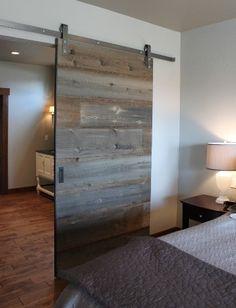 Barn Railed Bedroom's Door For color of wood.