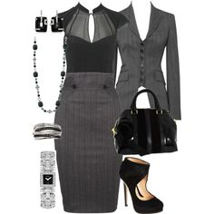"""Business Attire"" by manda3482 on Polyvore Shoes and purse please"