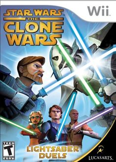 TRACE Star Wars the Clone Wars: Lightsaber Duels - Nintendo Wii