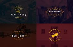 Genuine set of Vintage Logo Templates vol 4 that can be used as logos, stamps, posters, banners, indoor / outdoor promovation methods. These Emblems-Insignia Business Brochure, Business Card Logo, Vintage Logo, Font Names, Script Type, Logo Templates, Design Templates, Freelance Graphic Design, Creative Sketches