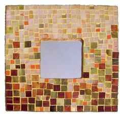 Specchio in mosaico sfumato. Mosaic mirror nuanced
