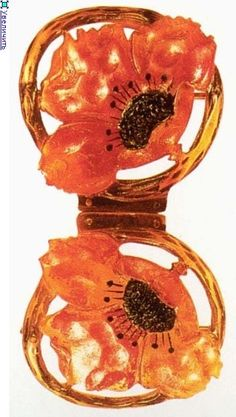 ART NOUVEAU  buckle Becker, K. tinted horn Collection of Victor and Greta