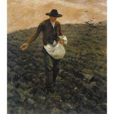 egger-lienz, albin der sämann (t European Paintings, Impressionist, Modern Art, Auction, Prints, Impressionism, Contemporary Art, Contemporary Artwork