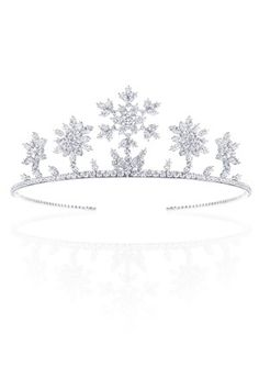 Harry Winston Tiara, I love that they are snowflakes!