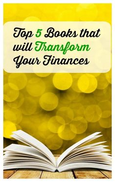 Top 5 Books That Will Transform Your Finances - - Finance tips, saving money, budgeting planner Budget Help, Money Budget, Money Tips, Money Saving Tips, Managing Money, Savings Planner, Budget Planner, Budgeting Finances, Budgeting Tips