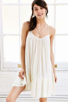 Gorgeous, breezy and beachy! Out From Under Gauze Tiered Slip Dress