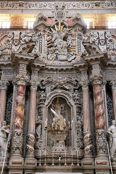 Church of Santa Caterina, Palermo, Italy. Baroque