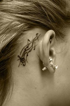 Music tattoo...hmmmm... I like it