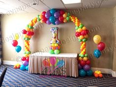 Winnie the Pooh and Friends 1st Birthday Arch Balloon Arch