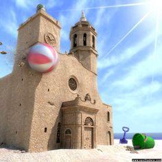 Original imagen de la iglesia de #Sitges.