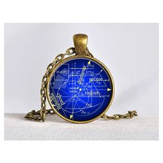 MATH EQUATIONS Pendant Blue and Yellow Mathematician Gift Science Geek... ($15) ❤ liked on Polyvore