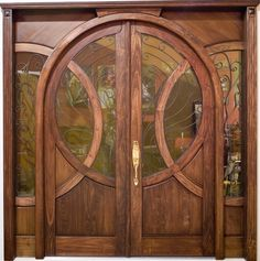 Old World Solid Wood Arch Entry with Raised Panel on both side(KEANA)