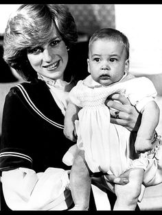 The Little Prince William Six months after his June 21,1982 arrival & Mum Princess Diana