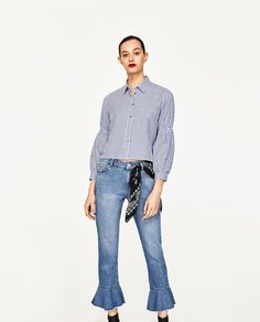 CROPPED STRIPED SHIRT-View All-TOPS-WOMAN-SALE | ZARA United States