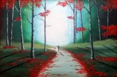 "Saatchi Art Artist Aisha Haider; Painting, ""Our Autumn Walk 2"" #art"