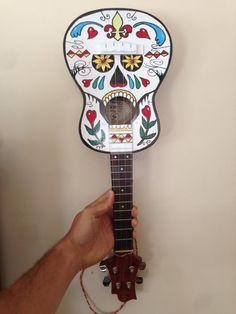 Hey, I found this really awesome Etsy listing at https://www.etsy.com/listing/193200387/custom-hand-painted-sugar-skull-ukulele