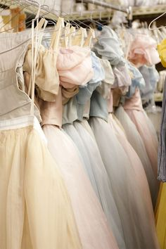 Vintage 1950s Pastel Prom Gowns, (cupcake dresses).