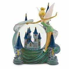 Tinker Bell and Cinderella Castle Snowglobe - Walt Disney World | Disney Store, $30