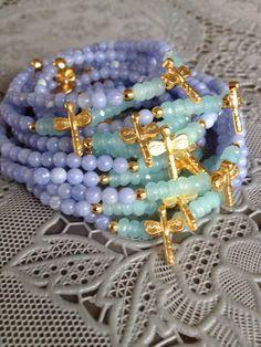 Jade, dragonfly - bracelets by SOOSjewelry