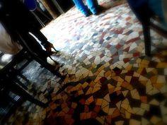 Floor of Chez Prune in Paris.