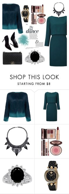 """#764 - ice fur"" by politepink ❤ liked on Polyvore featuring Unreal Fur, Anja, Charlotte Tilbury, Versace and Chanel"