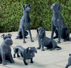 Crafted from durable aluminum, our Dog Sculptures are a great addition to any dog lover's indoor or outdoor decor-either solo or paired with one of our other adorable canine statues. Dog Sculpture, Sculptures, Concrete Statues, Protective Dogs, Painting Concrete, Australian Shepherd, Dog Treats, Your Pet, Outdoor Decor