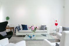 white livingroom