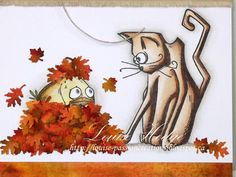 Good day everyone, We have a new challenge at Paradise of Stamps , it's now a monthly challenge Our theme for October is Autumn o. Crazy Bird, Crazy Dog, Crazy Cats, Leaf Cards, Bird Cards, Owl Card, Dog Cards, Animal Cards, Fall Cards