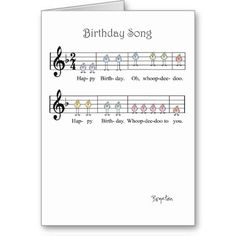 BIRTHDAY SONG GREETING CARD
