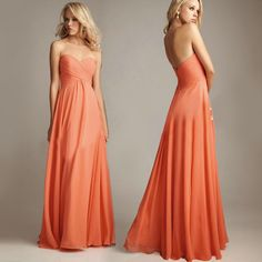 Purple and Orange Lady Prom Gowns Evening Party Ball Strapless Off Shoulder Long Dress WLF028 $45.16