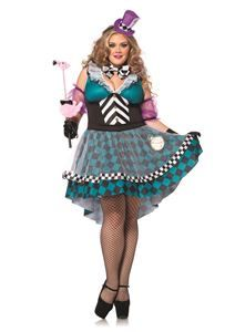 Manic Mad Hatter Adult Womens Plus Size Costume - 322637 | trendyhalloween.com