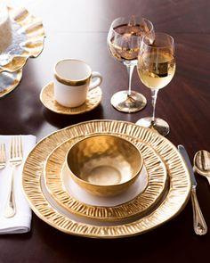 """Michael Wainwright """"Gold Coil"""" Dinnerware - Neiman Marcus"""