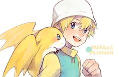 {digimon- TK & Patamon} :3 No matter if he grewp up later on, he was such a cute kid