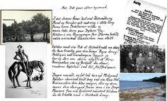 """Emry – Marias Morfar – havde været lærer i Asnæs nogle år. Han havde fået embede i Holbæk. Den 30. jan. 1914 satte han sig godt indpakket i overfrakke, kappe og med fødderne i fodpose og med min store kørepibe tændt, op i fjedervognen forspændt hesten. Den blev senere af Hagbart Olsen omtalt som Rosinante – og han startede på den 50 km lange tur til Holbæk.  På den lange tur i hestevogn fra Asnæs til Holbæk havde Emry tid til """"Tilbageblik"""" fra Asnæs tiden."""