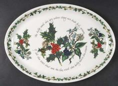 """Portmeirion The Holly and The Ivy 13"""" Oval Steak Platter"""