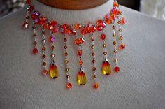 Victorian Wedding Bib Style Swarovski Crystal by cynthiacouture, $200.00