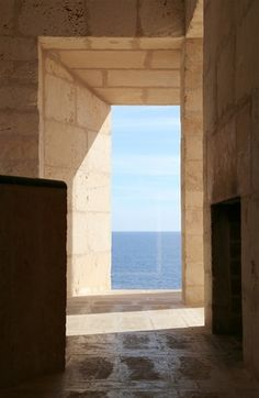 Utzon's island escape - Framed views out to the Mediterranean Sea.