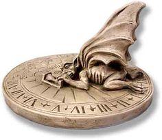Midnight in the Garden! : Gargoyle Sundial!