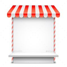 Buy Sale Stand with Red Awning by timurock on GraphicRiver. Set of red, blue and green store roof awnings Backgrounds, Icons, Cartoon, Logos, School, Green, Blue, Home Decor, Impressionism
