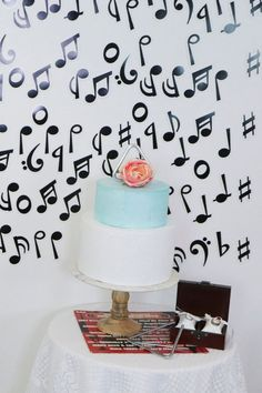 Create a country music-inspired backdrop and cake table with these ideas from fernandmaple.com!
