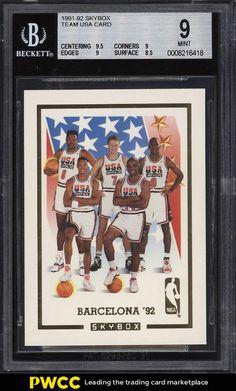 d3f26e94d 1991 Skybox Team USA Basketball w  Michael Jordan BGS 9 MINT (PWCC)