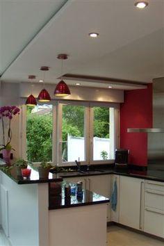 Faux Plafond Placoplâtre Design Kitchen En 2019 Ceiling Design