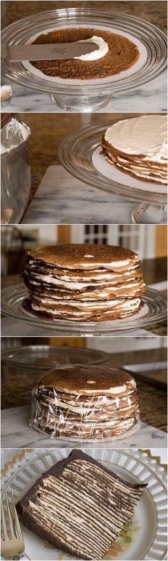 Darkest Chocolate Crepe Cake - Imgur