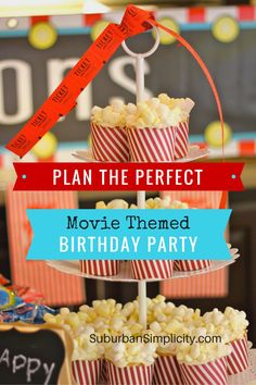Plan the perfect kid Birthday party with these tips and tricks. Boys and girls love this fun and creative movie-themed birthday party idea. Most of the decorations came from the dollar store!