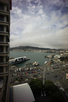 Wellington, New Zealand - view from a Rydges Hotel room